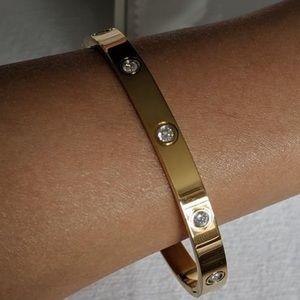 Jewelry - Gold love bracelet bangle diamonds